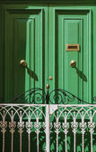 Malta, Gozo Island, Victoria city, green door in a private house — Stock Photo