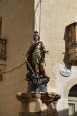 Malta, gozo eiland, victoria city, religieuze standbeeld — Stockfoto