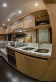 RIZZARDI 63HT luxury yacht, kitchen — Stock Photo