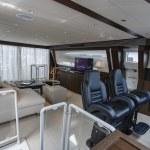 82' luxury yacht, aerial view — Stock Photo #24962177