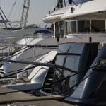 Italy, Tuscany, Viareggio, luxury yachts in the port — Stock Photo