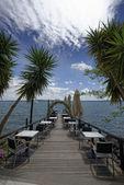 Italien, Bracciano-See, Trevignano - Rom Reastaurant am See — Stockfoto