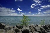 Italy, Bracciano lake, Trevignano - Rome, reastaurant by the lake — Stock Photo
