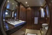 Italy, Viareggio, 82' luxury yacht, guests bedroom — Stock Photo