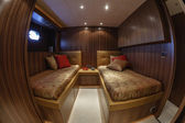 Italy, Viareggio, 82' luxury yacht, second guests bedroom — Stock Photo