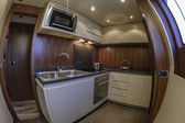 Italy, Viareggio, 82' luxury yacht, kitchen — Stock Photo