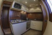 Italy, Viareggio, 82' luxury yacht, kitchen — Stock Photo