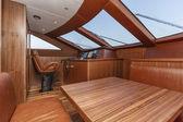 Italy, Viareggio, 82' luxury yacht, dinette, driving consolle — Stock Photo