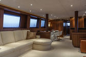 Italy, Viareggio, 82' luxury yacht, dinette — Stock Photo