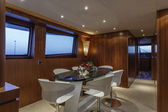 Italy, Viareggio, 82' luxury yacht, dinette, dining table — Stock Photo