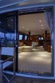 Italy, Viareggio, 82' luxury yacht, dinette — Stock Photo