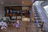 Italy, Viareggio, 82' luxury yacht, stern deck — Stock Photo