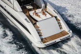 Luxury yacht, stern deck — 图库照片