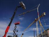 Tower cranes — Stockfoto