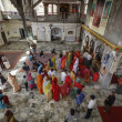 India, Rajasthan, Jaipur, indian in a hindu temple — ストック写真