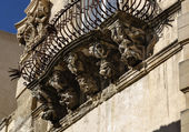 Italy, Sicily, Ragusa Ibla, the baroque facade of Cosentini Palace — Stock Photo