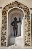 India, Rajasthan, Jaipur, Sisodia Palace, old statue — Stock Photo