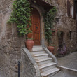 Italy, Tuscany, Pitigliano town, old stone house — Stock Photo