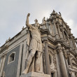 Italy, Sicily, Catania, Duomo Square — Stock Photo