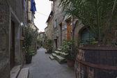 Italy, Tuscany, Pitigliano town, old stone houses — Stock Photo