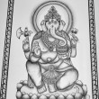 Religious hindu Ganesh God painting — Stock Photo
