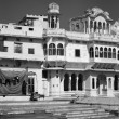 Stock Photo: India, Rajasthan, Pushkar, old private house facade