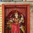 India, Rajasthan, Pushkar, Hindu Temple, religious statue — Stock Photo