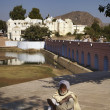 Stock Photo: India, Rajasthan, Pushkar, indiSadhu