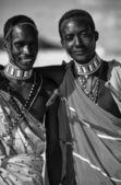 Masai on the beach — Stock Photo