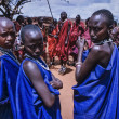 Kenya, Tsavo East National Park, Masai village, Masai girls portrait — Stock Photo #32941137