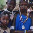 Kenya, Tsavo East National Park, Masai village, Masai girls portrait — Stock Photo #32941181