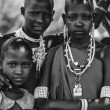 Kenya, Tsavo East National Park, Masai village, Masai girls portrait — Stock Photo