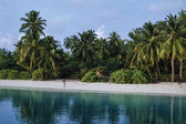 Maldive Islands, Male Nord, touristical resort on the beach — Stock Photo