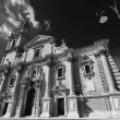 View of the baroque St. John Cathedral facade — Stock Photo