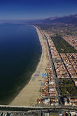 Aerial view of the city and the tyrrhenian coastline — Stock Photo