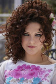 Young girl portrait — Stock Photo