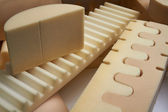 Italy, foam rubber shapes in a foam rubber factory — Stock Photo