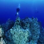 Постер, плакат: Cave diving scuba diver
