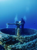 Sunken ship — Stock Photo