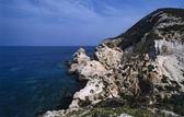 Costa rochosa da ilha — Fotografia Stock