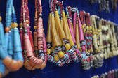 Indian necklaces for sale in a local store — Stock Photo