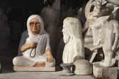 Religious statues in a local store — Stock Photo