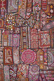 Indian handmade patchwork carpet — Stock Photo