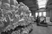 Foam rubber shapes in a foam rubber factory — Stock Photo