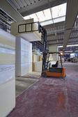 Foam rubber shapes in a foam rubber factory — Stockfoto