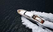 Tecnomar Velvet 83 luxury yacht — Stock Photo