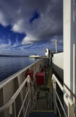 On board of ferryboat — Stock Photo