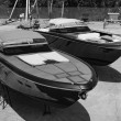 Stock Photo: Luxury yachts ashore in boatyard