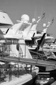 Luxury yachts in the marina — Stock Photo