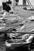 Luxury yachts in the marina — Stok fotoğraf